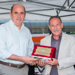 Premiazione Massimo Tasi coordinatore tecnico del Coni Pistoia