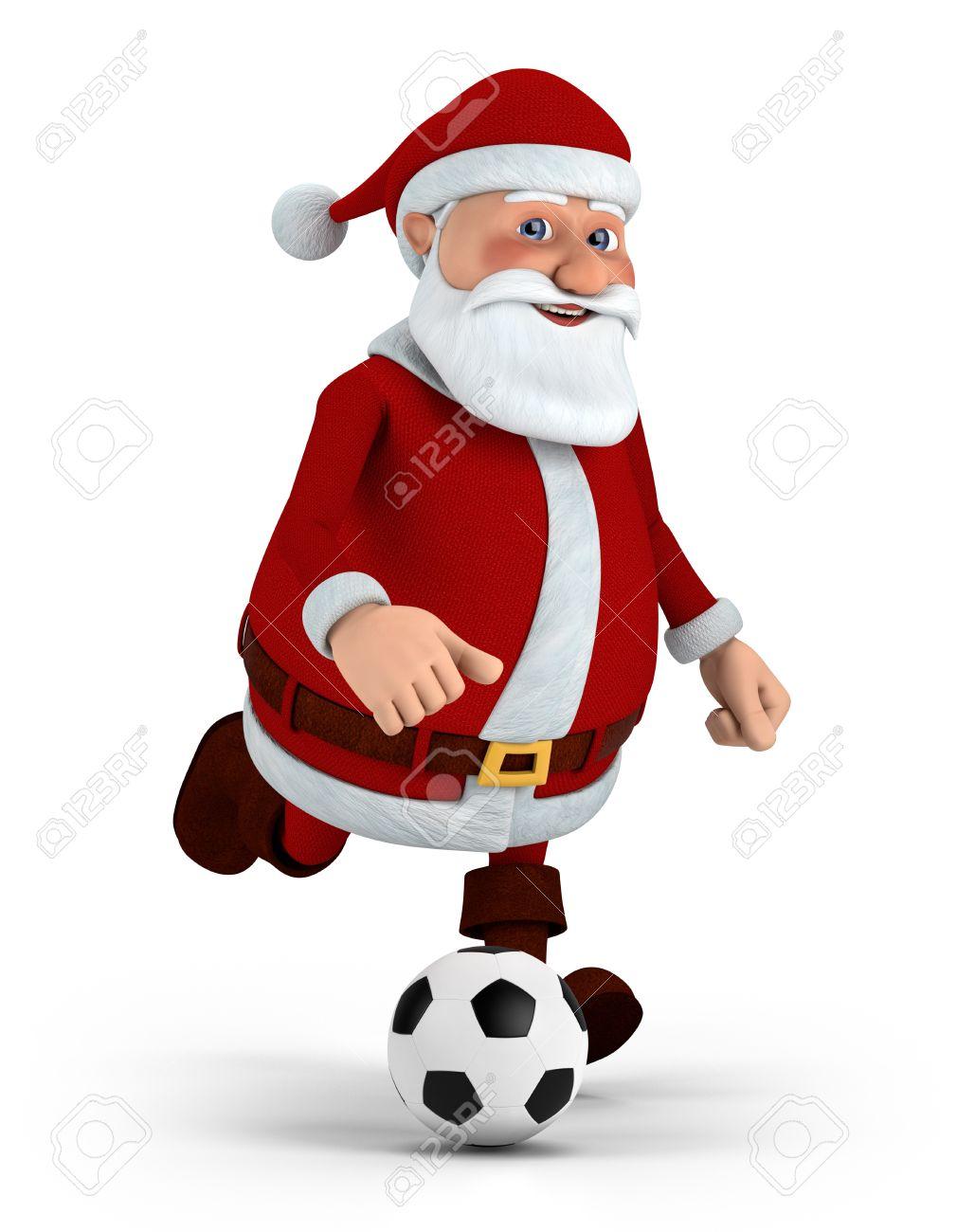 11299213-simpatico-cartone-animato-babbo-natale-giocare-a-calcio-illustrazione-3d-di-alta-qualità